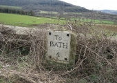 Bath Road milestone, Bathford