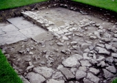 bathhouse of Budbury Roman villa