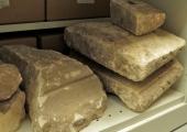 Carved stones, Budbury Roman Villa bathhouse