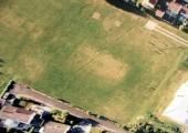 aerial view of Budbury Roman villa