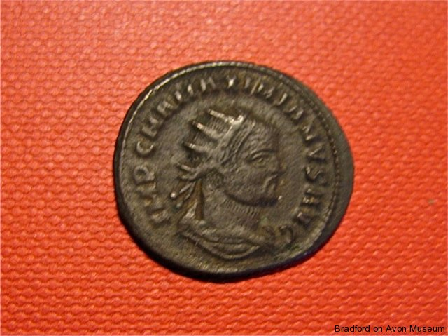a coin of the Roman Emperor Maxentius