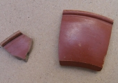 sherds of Roman Samian pottery