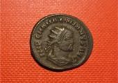 a coin of the Roman Emperor Maximianus