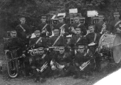 Spencer Moulton brass band, 1890s