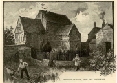 Saxon church in an old print