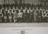 Staff and some pupils, Fitzmaurice Grammar School