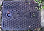 S.H. Long manhole cover