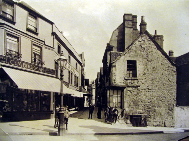 The Shambles, Market Street end before the Post Office was built, c1900