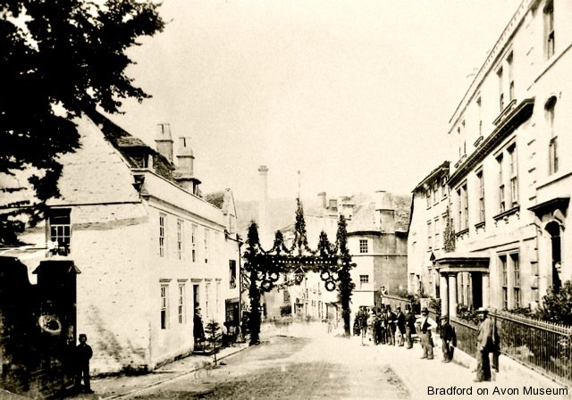 Woolley Street/Silver Street in 1879