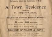St Margaret's House sale 1903