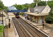 Britannia at Bradford station