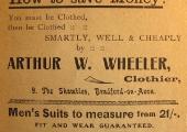 Arthur Wheeler advertisement
