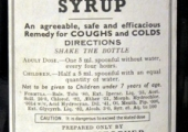 Saunders' balsamic syrup label
