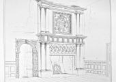 The Hall, Bradford on Avon, fireplace