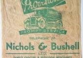 Nichols & Bushell, grocers, paper bag