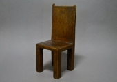 model chair carved from Ham Tree wood