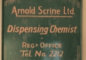 Arnold Scrine chemist sign