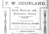 Thomas Coupland, grocer, advertisement