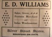 E.D. Williams, baker, Silver Street