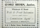 George Brown, greengrocer, advertisement 1911