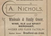 Albert Nichols, grocer, advertisement