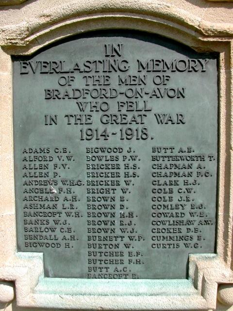 Bradford, World War 1 memorial, Westbury Gardens