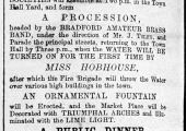 opening of Bradford waterworks