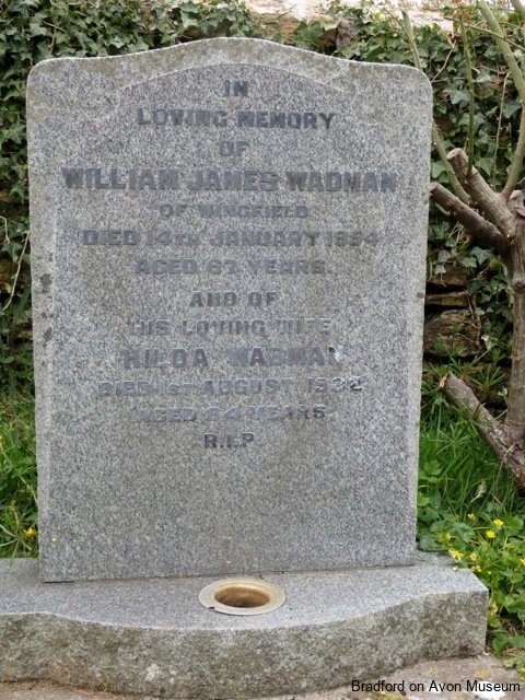William James Wadman  gravestone, Wingfield, Wiltshire