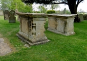 Chest tombs, Wingfield, Wiltshire