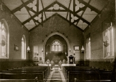 old photo of Winsley church interior