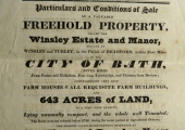 Winsley Manor sale 1825