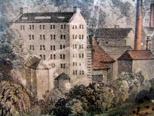 The old Abbey Mill, Bradford on Avon in the 1850s