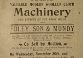 Abbey Mills, Bradford on Avon, machinery auction 1898