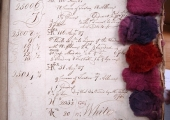 Stevens & Bailward dye book 1768