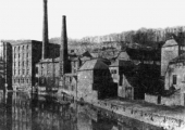 Church Street and Abbey Mills, Bradford on Avon c1880
