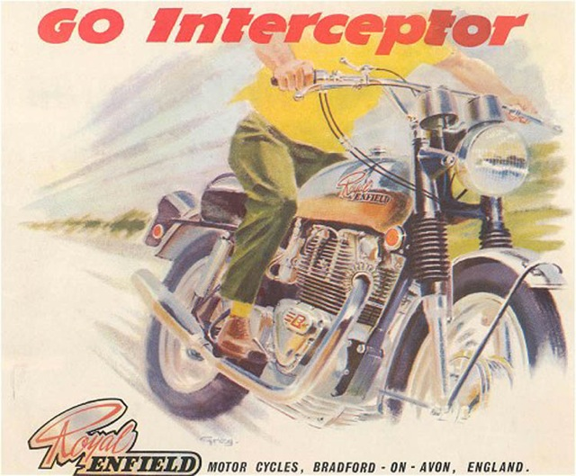 Royal Enfield Interceptor advertisement