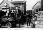 E.W. Stone's garage and breakdown truck