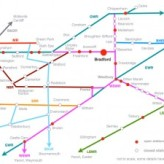 A Bradford-centric railway map