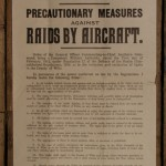Air raid precautions poster