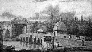 The Town Bridge, early 19th century engraving