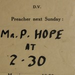 Old Baptist Chapel notice of preacher