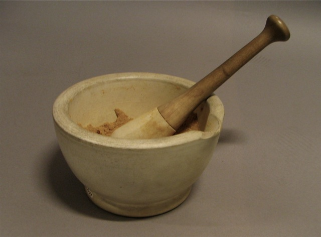 Mortar and pestle chemistry ceramic pestle and mortar