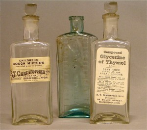 Christopher medicine bottles