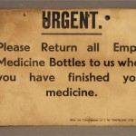medicine bottle notice