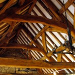 The roof of Priory Barn, Newtown