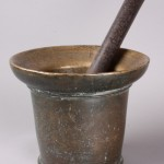 Iron pestle and bell metal mortar
