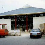 The Library, nearing completion in 1990.