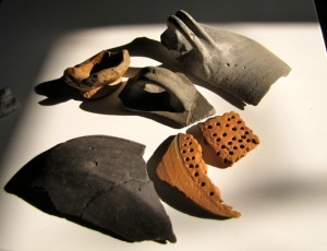 Roman pottery from Budbury