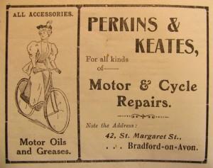 Perkins & Keates advertisement 1911