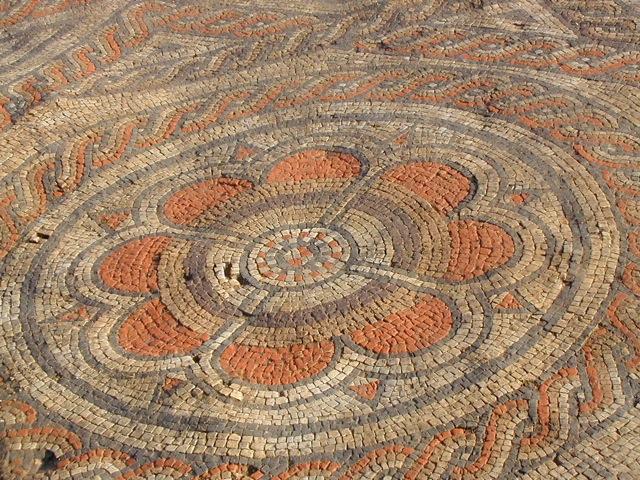 Mosaic central motif